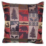 Premium Rustic Throw Pillow - Red Cabin