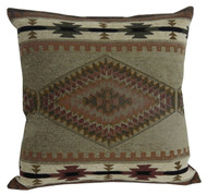 Premium Rustic Throw Pillow - Apache