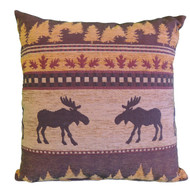 Premium Rustic Throw Pillow - Brown Moose