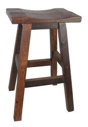 "Barnwood Bar Stools 30"" - Saddle Seat"
