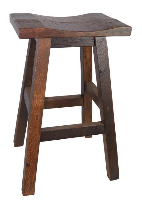 Barnwood Bar Stools Saddle Seat - Barnwood bar table