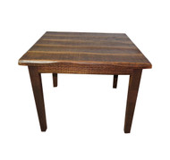 "Barnwood Distressed Oak 30"" High Kitchen Table with 40X40 Top"