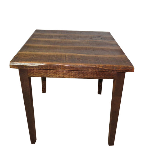Rustic Distressed Oak High Kitchen Table With X Top - 36 high pub table