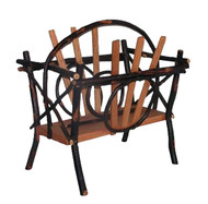 Bentwood Magazine Rack - Hickory & Oak