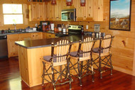 """Bentwood Bar Stools Hickory & Oak 24"""" - Customer Picture"""