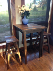 "Barnwood Pub Table 42"" High with 40X40 Top"