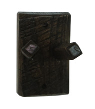 Barnwood Double Robe Peg Hook