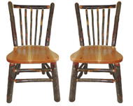 Rustic Hickory & Oak Dining Chair with Spindle Back (Set of 2)