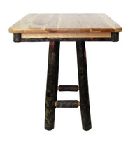 "Rustic Hickory 36"" Square 42"" High Pub Table"