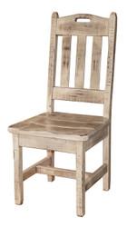 Farmhouse Antique White Glazed Shabby Chic Barnwood Kitchen Chair