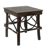 Amish Bentwood Side Table - Hickory & Barn Wood