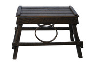 Amish Bentwood Foot Stool - Solid Barnwood