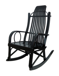 Amish Bentwood Rocker - Solid Maple with a Black Rub through Finish
