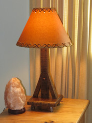 Amish Barnwood Table Lamp with Shade
