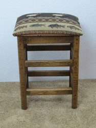 "Barnwood Bar Stools 30"" Upholstered Seat - Changeable Top"
