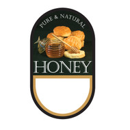 """Small Honey/ Biscuit Label, Oval, 100 pack, 1-3/4"""" x 3"""" PRINTABLE PACK"""