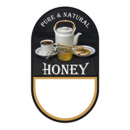 """Small Honey/ Tea Label, Oval, 100 pack, 1-3/4"""" x 3"""" PRINTABLE PACK"""