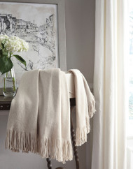 Haiden Ivory/Taupe Throw (3/CS)