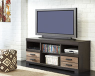 Harlinton Warm Gray LG TV Stand w/Fireplace Option