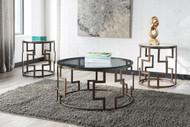 Frostine Dark Bronze Finish Occasional Table Set (3/CN)