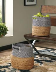 Parrish Natural/Blue Basket Set
