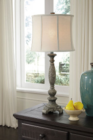 Alinae Antique Gray Poly Table Lamp (1/CN)