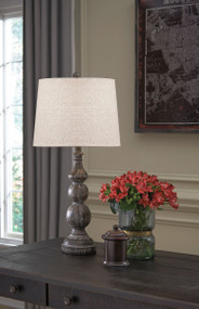 Mair Antique Black Poly Table Lamp