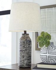 Mahima Black/White Paper Table Lamp