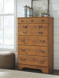 Bittersweet Light Brown Five Drawer Chest