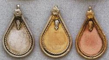 East Indian Metal Charm/Drop, Teardrop-Plain, 40mm, raw brass, (4 pieces)