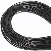 Leather, European (Greek), Round Cord, 1.5mm, Black, 50-meter skein, (1 skein)