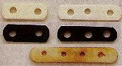 Spacer/Separator Bar, Bone, black, 20mm, 2-hole, 8mm space between holes, (12 pieces)