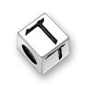 5.5mm (4mm hole) Sterling Silver Hebrew Letter Cube, FINAL KAF, (1 bead)
