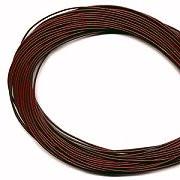 Leather, European (Greek), Round Cord, 1.5mm, Garnet, 5-meters, (5-meters length)