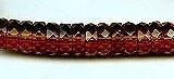 10x4mm Fire Polish Rondelle Bead (aka, Bolt), Czech Glass, topaz, (50 beads)