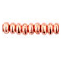 4mm RONDELLE DRUKS (saucer shape), Czech Glass, copper penny, (100 beads)