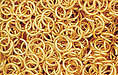 Gold Plate Jump Ring, Round, 5mm exterior diameter, 21 gauge, (20 pieces)