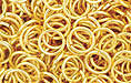 Gold Plate Jump Ring, Round, 8mm exterior diameter, 19 gauge, (20 pieces)