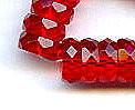 10x4mm Fire Polish Rondelle Bead (aka, Bolt), Czech Glass, ruby, (50 beads)