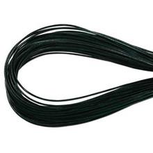 Leather, European (Greek), Round Cord, 1.5mm, Hunter Green, 5-meters, (5-meters length)