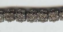 Oriental Metal Bead, 9-10mm, (4 beads)