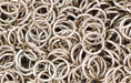 Nickel Plate (shiny) Jump Ring, Round, 7mm  exterior diameter, 19 gauge, (20 pieces)