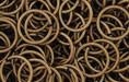 Brass Oxidized Jump Ring, Round, 10mm exterior diameter, 19-gauge, (20 pieces)