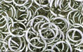 Nickel Plate (shiny) Jump Ring, Round, 9mm exterior diameter, 19 gauge, (20 pieces)