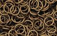 Brass Oxidized Jump Ring, Round, 7mm exterior diameter, 19-gauge, (20 pieces)