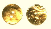 Cornflake Castings, Button/Closure, 2-hole, 16mm, Gold Plate (over base metal), (2 pieces)