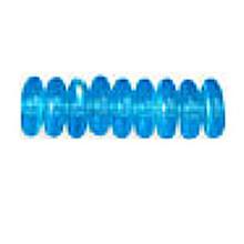 4mm RONDELLE DRUKS (saucer shape), Czech Glass, aqua ab, (100 beads)