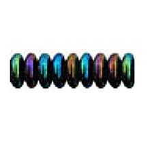 8mm RONDELLE DRUKS (saucer shape), Czech glass, blue iris, (100 beads)