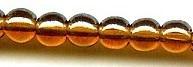 4mm Round Druk, Czech Glass, smoke topaz luster, (100 beads)