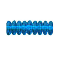 8mm RONDELLE DRUKS (saucer shape), Czech glass, capri, (100 beads)